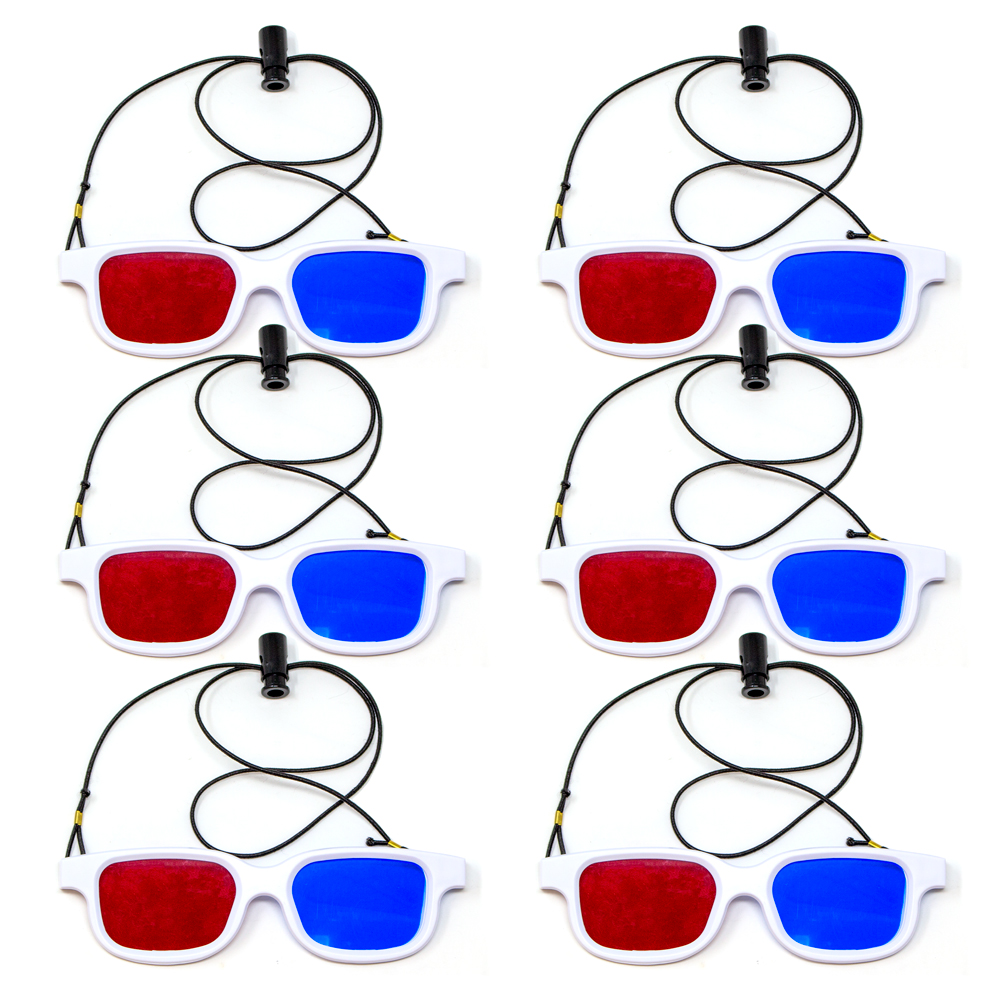 Bernell Blanco Goggle Red/Blue with Elastic - 6pk