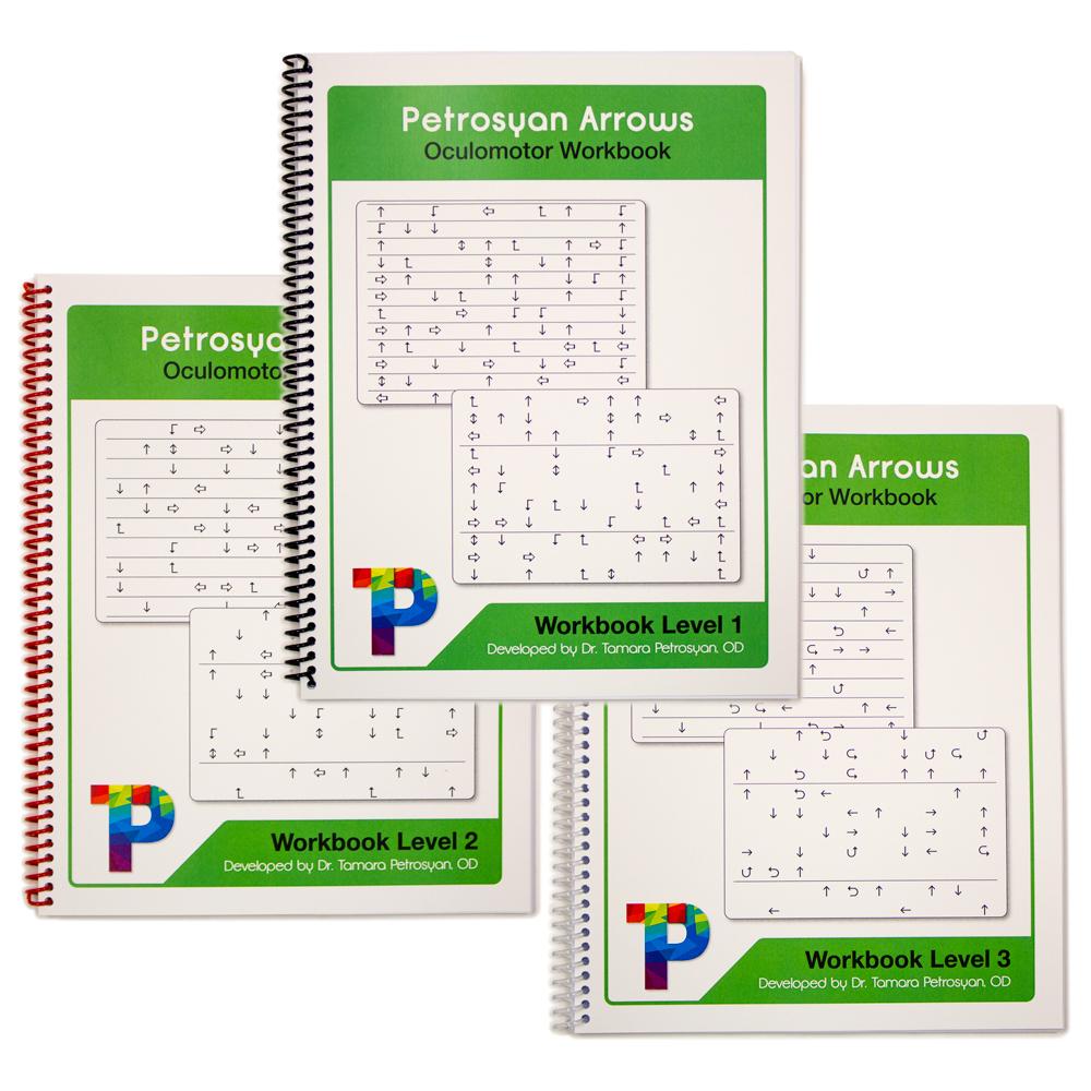 Petrosyan Arrows Oculomotor Workbook - Level 1, 2 & 3