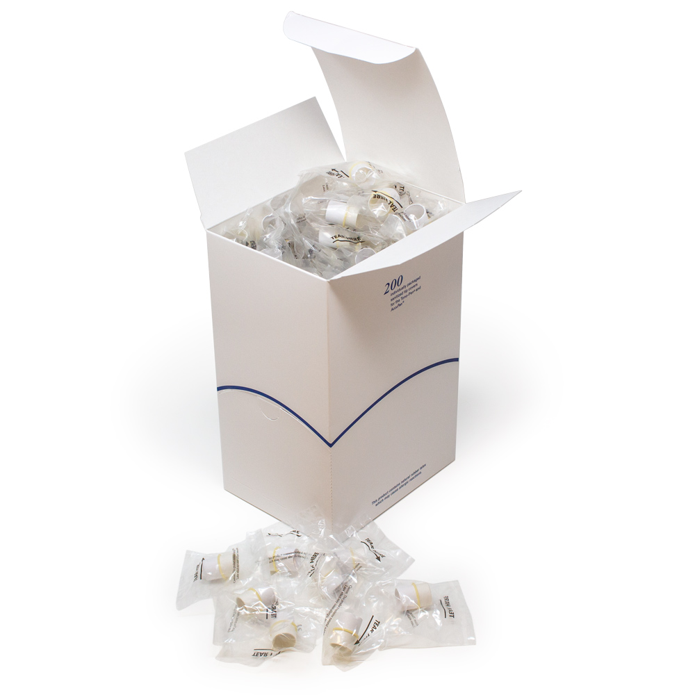 Tonometer Sanitized Sleeved Individually Wrapped Tip Covers - Box of 200