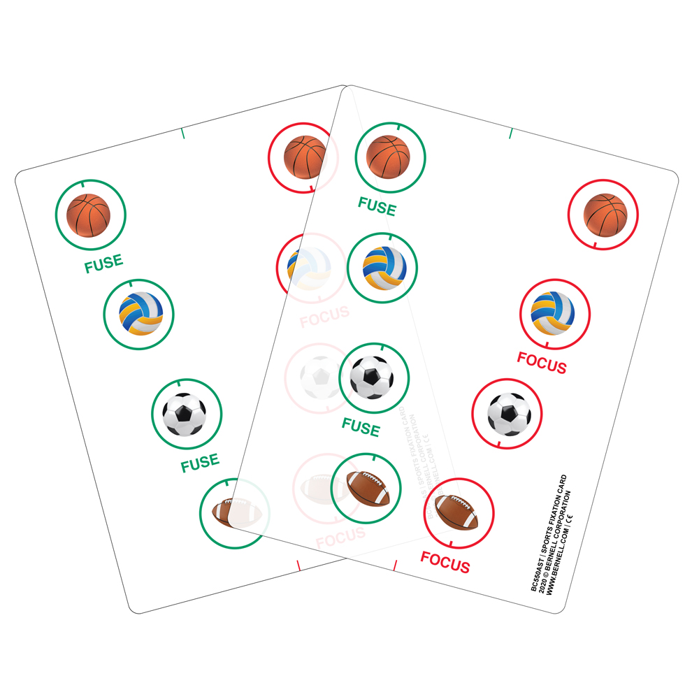 Bernell Sports Fixation Cards - Transparent and White Vinyl