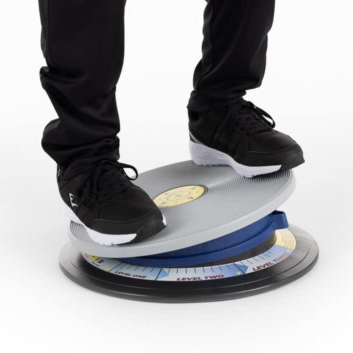 "TurnUnit 16"" 3-D Rotational Balance Trainer with Variable Tilt - Blue Color"