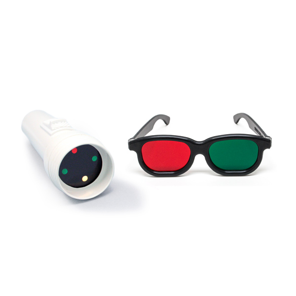 Worth 4-Dot Test with Red/Green Glasses