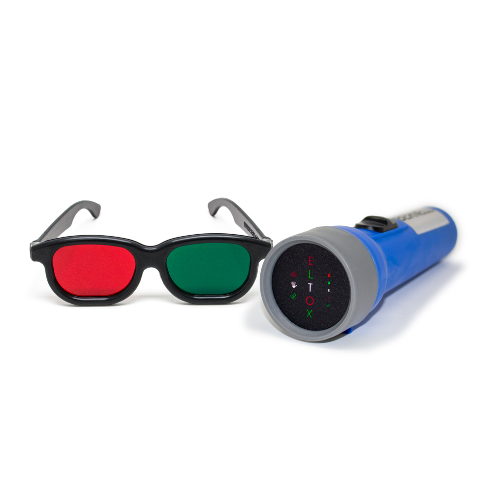 Worth Test with Letters with Red/Green Glasses