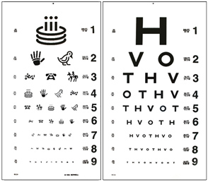 distance eye test chart: Distance acuity charts bernell corporation