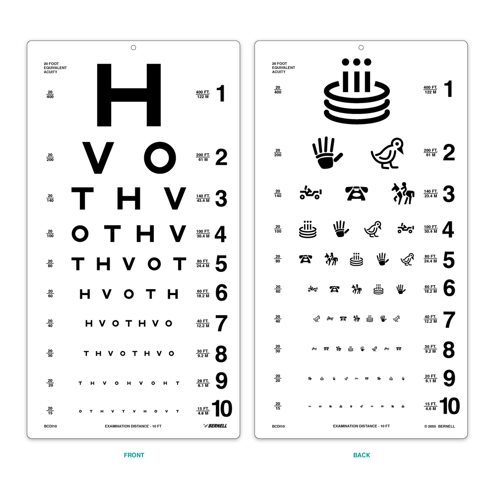 Hotv pediatric eye chart for illuminated cabinet distance acuity hotv 10ft test geenschuldenfo Images