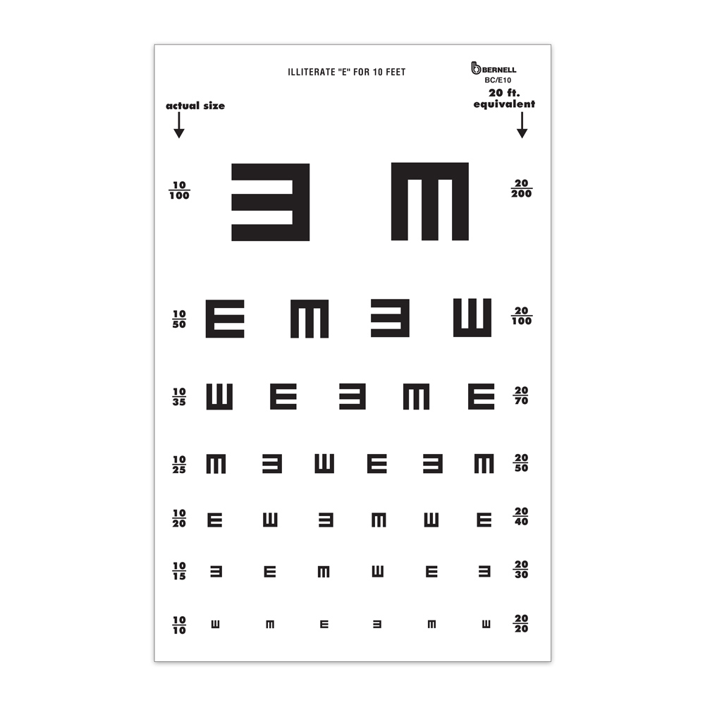 Symbol eye charts bernell corporation tumbling e test geenschuldenfo Images