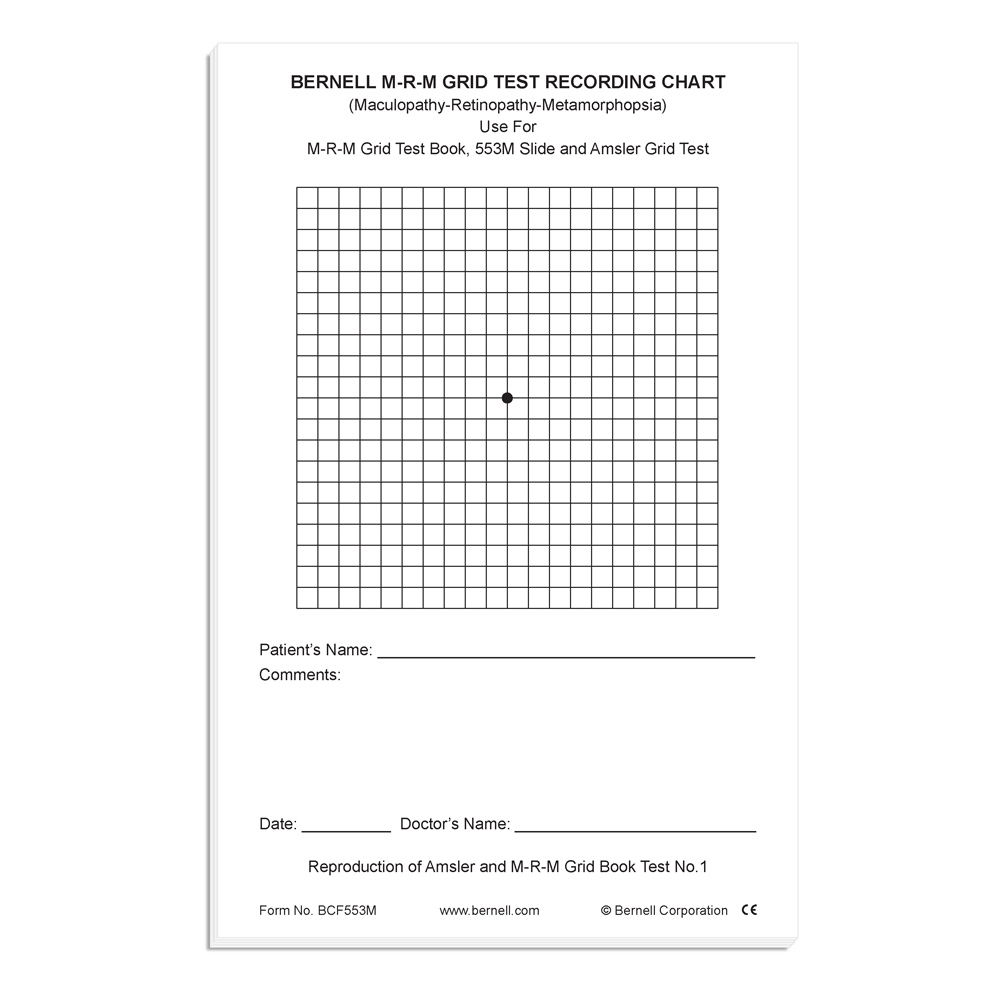Maculopathy Recording Forms (Pad of 50)