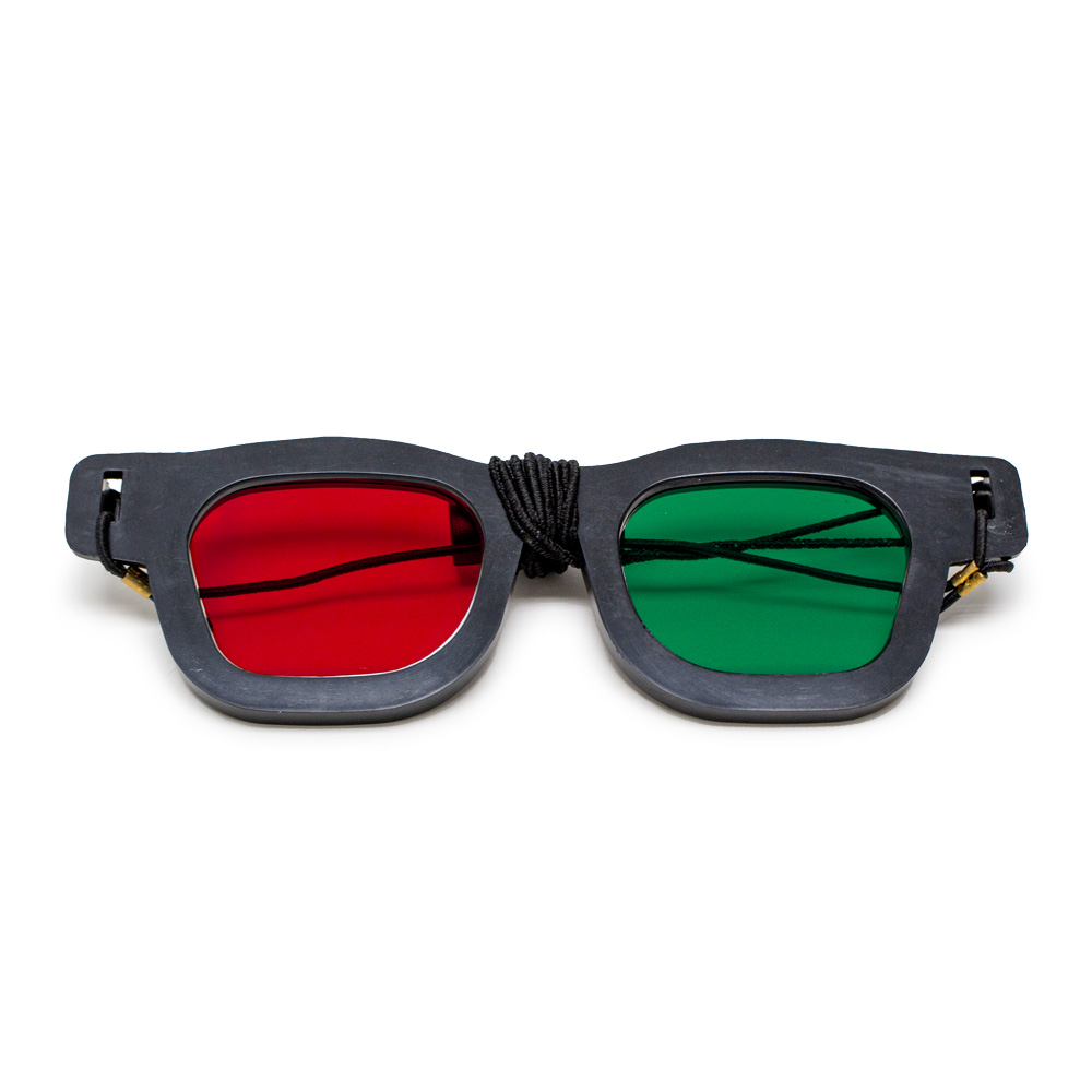 Original Bernell Model - Red/Green Goggles with Elastic (Lenses Not Glued) - Single