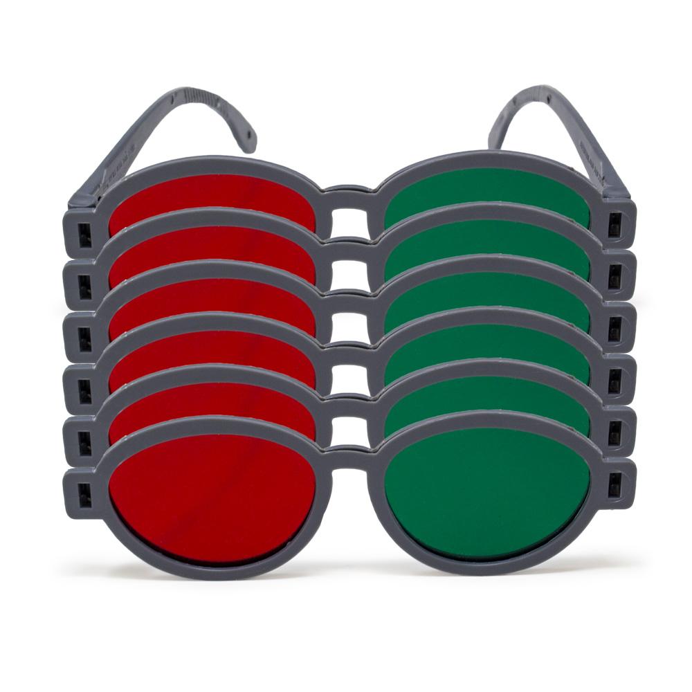 Modern Model - Red/Green Goggles (Pkg. of 6)