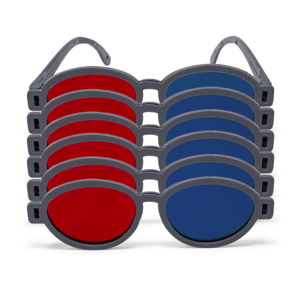 Modern Model - Red/Blue Computer Goggles (Pkg. of 6)