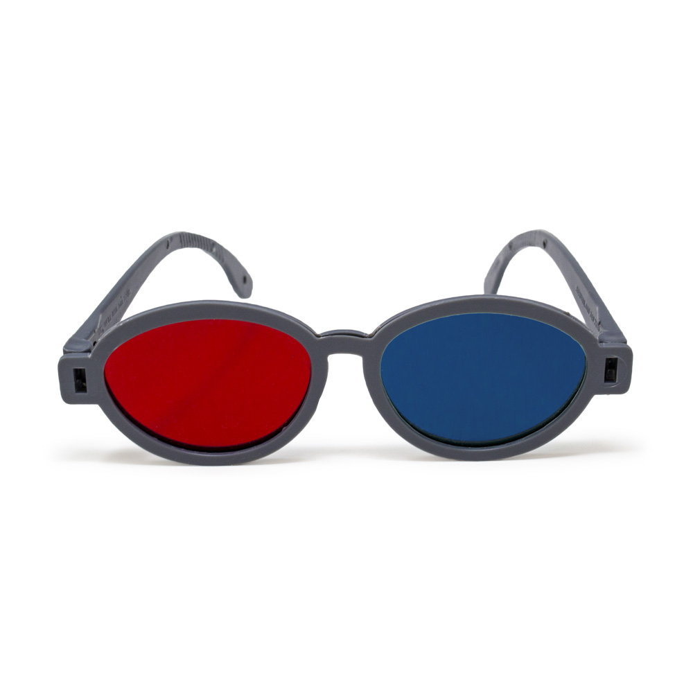Modern Model - Red/Blue Computer Goggles (Single Pair)