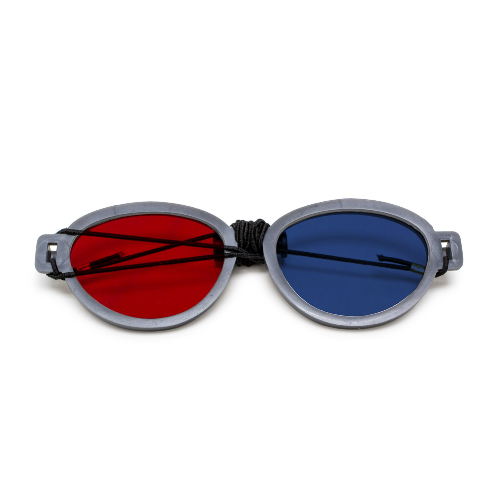 Modern Model - Red/Blue Computer Goggles with Elastic (Single Pair)