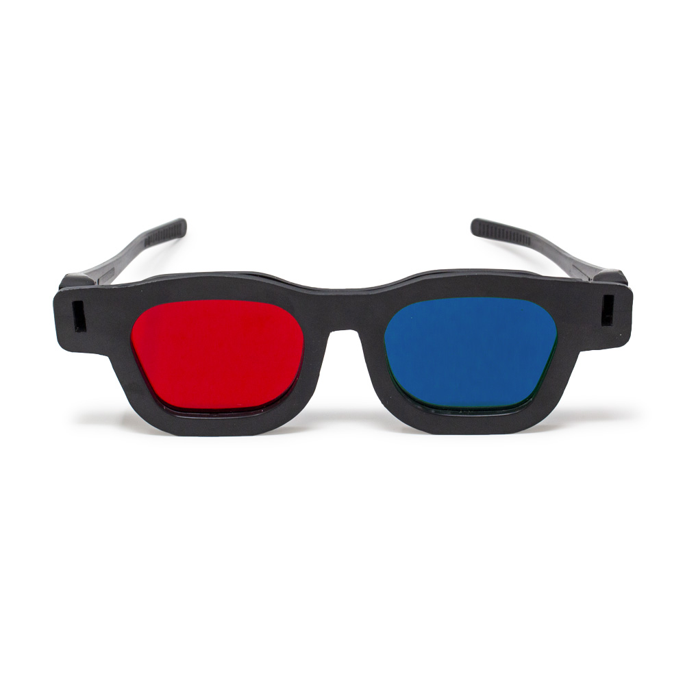 Original Bernell Model - Red/Blue Computer Goggles (Lenses Not Glued) - Single