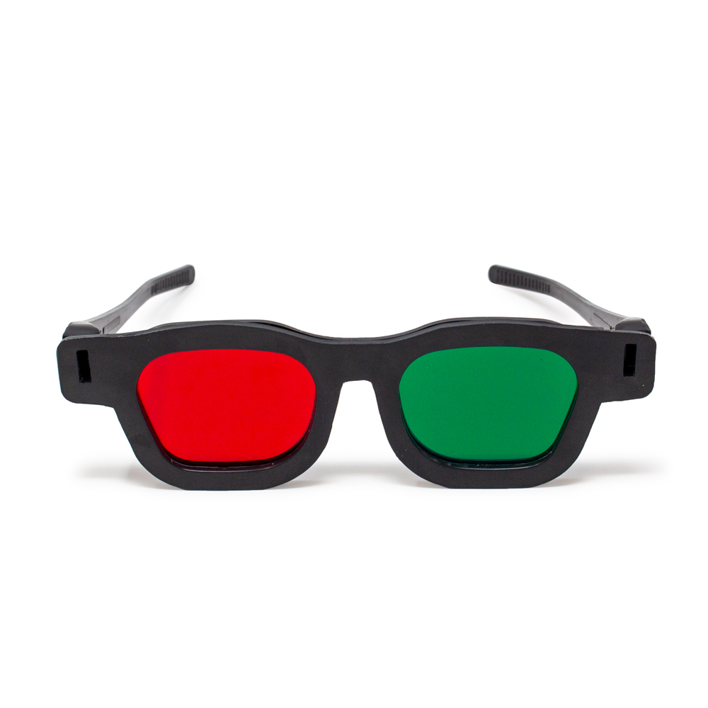 Original Bernell Model - Red/Green Goggles (Lenses Not Glued) - Single
