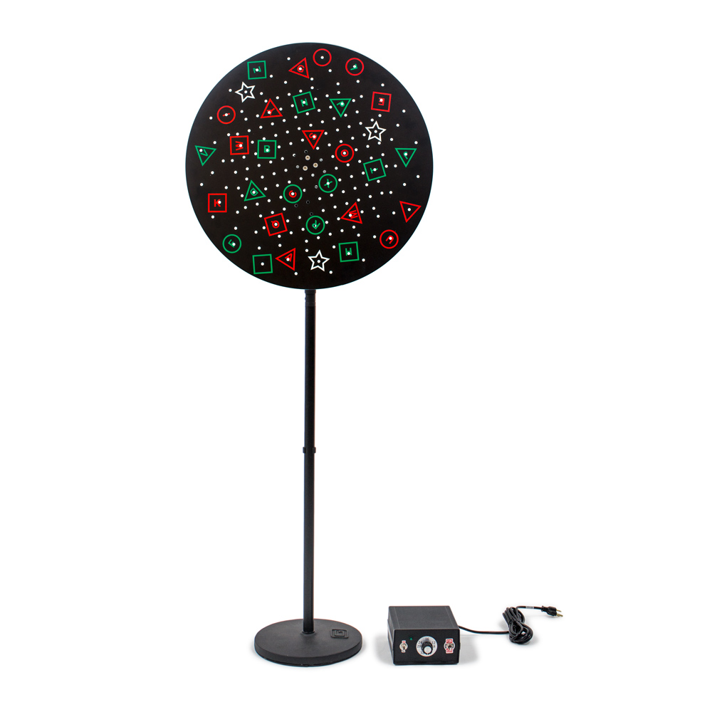 Floor Rotation Trainer with Anti-Suppression Black Background Pegboard Disc