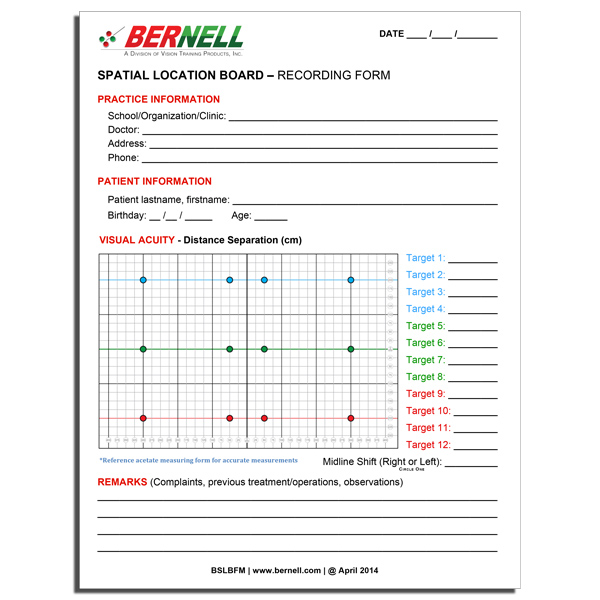SLB™ - Extra Pad of 25 Sheet Recording Forms