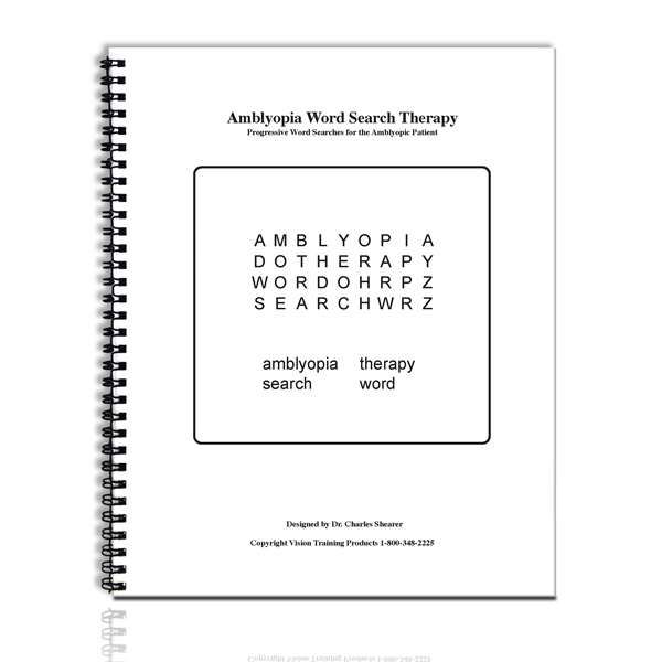 Bernell Activity/Therapy Workbooks - Black/White Word Search Book