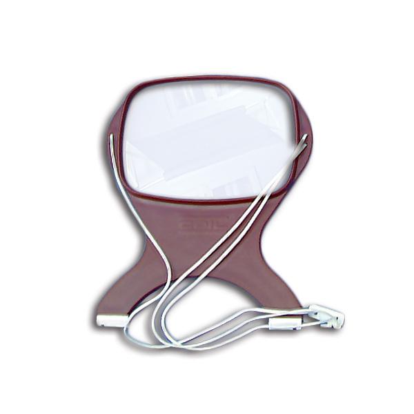 """K. Coil Necklace Magnifier (1.7x Magnification) 5-1/2"""" x 4"""" Lens"""