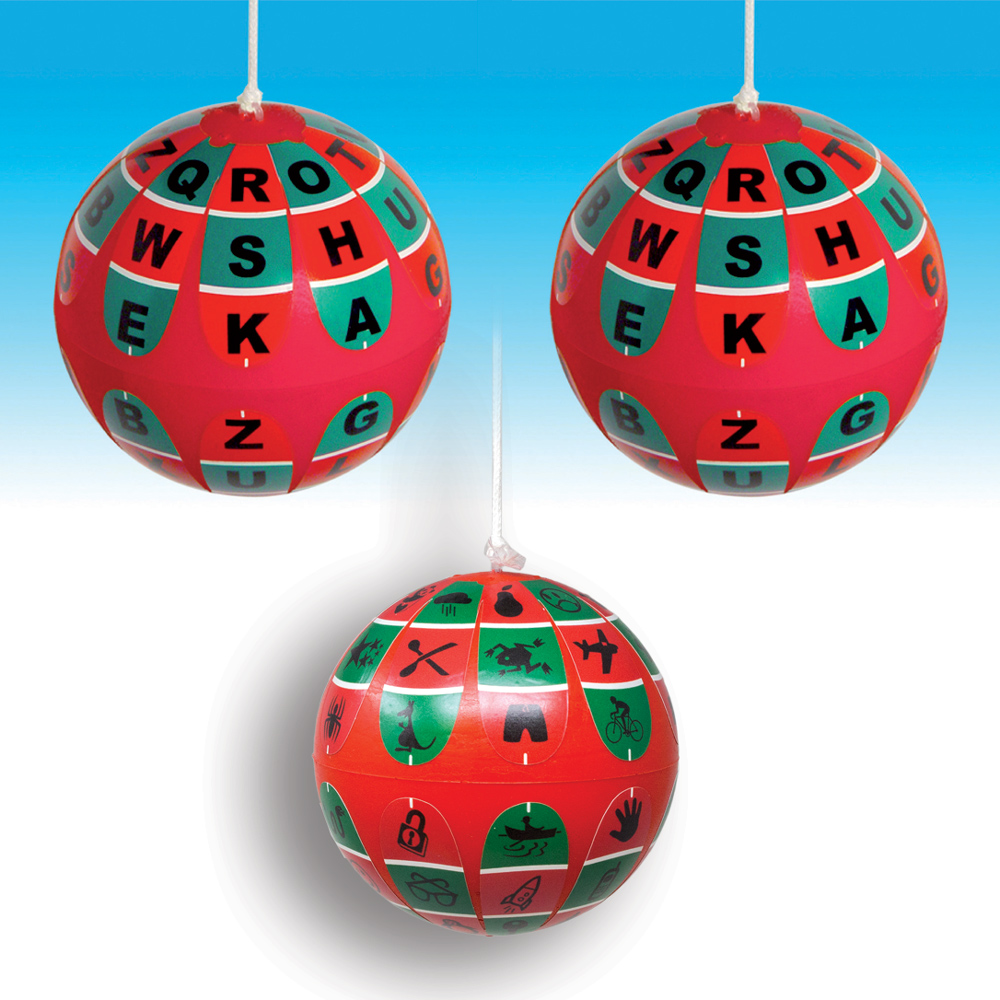 Soft R/G Training Ball (VTE) (Package of 3) - 2 Balls with Letters and 1 with Figures