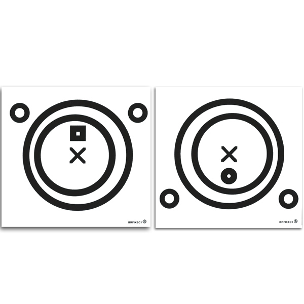 Black Eccentric Circles Cling