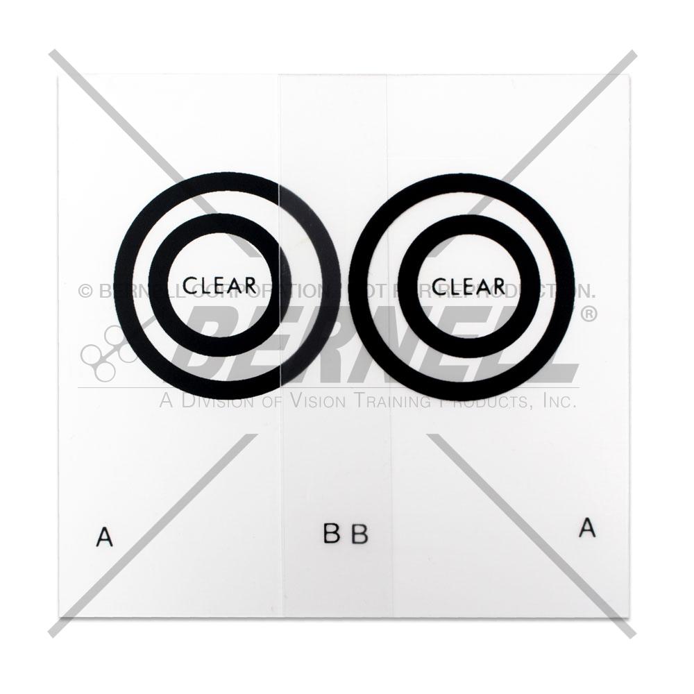 Keystone Eccentric Circles (Clear) - 10 Pair