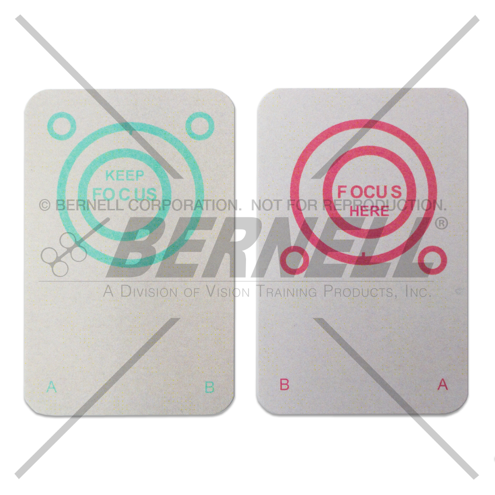 Bernell Red/Gren Eccentric Circles (Opaque) - 25 Pair