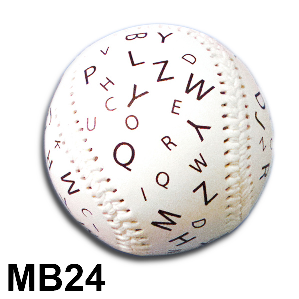 Baseball with Letters in 18pt & 30pt Fonts