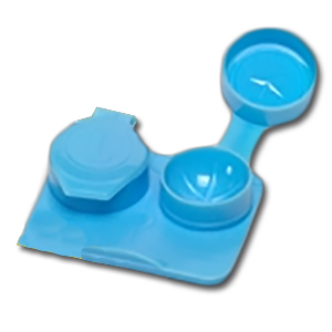 (50) Jumbo Contact Lens Cases - 7mm Depth (Light Blue)