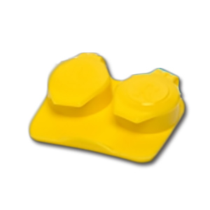 (50) Jumbo Contact Lens Cases - 10mm Depth (Yellow)