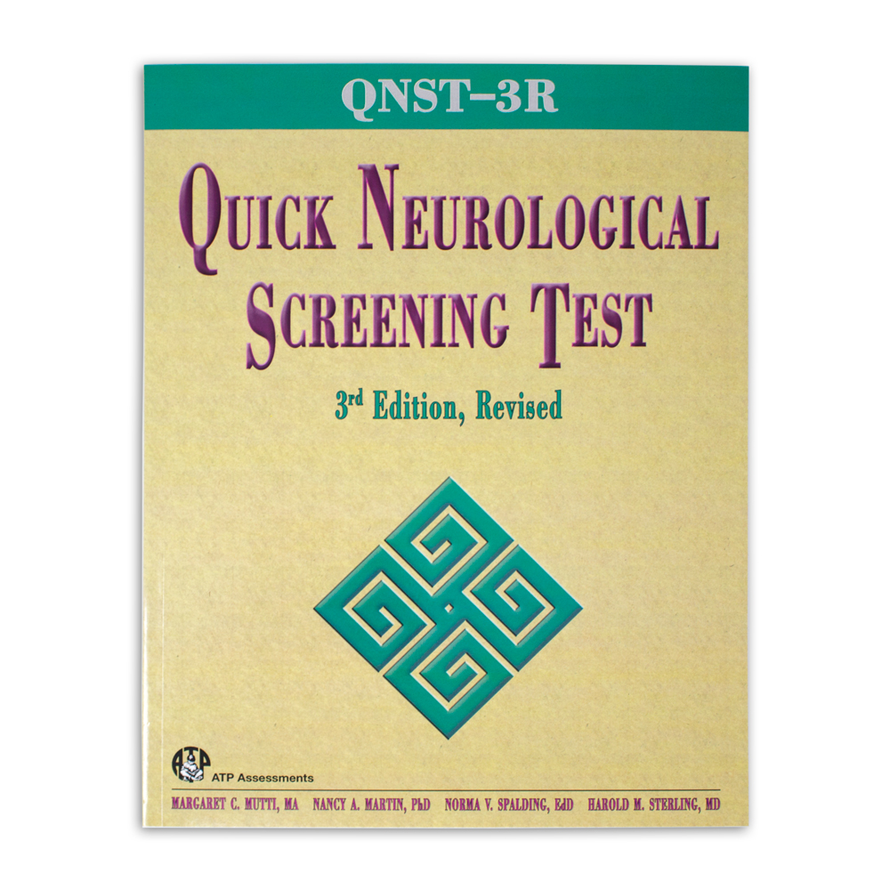 Quick Neurological Screening Test 3R Manual
