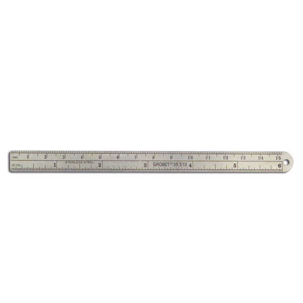 "6"" Stainless Steel PD Ruler"