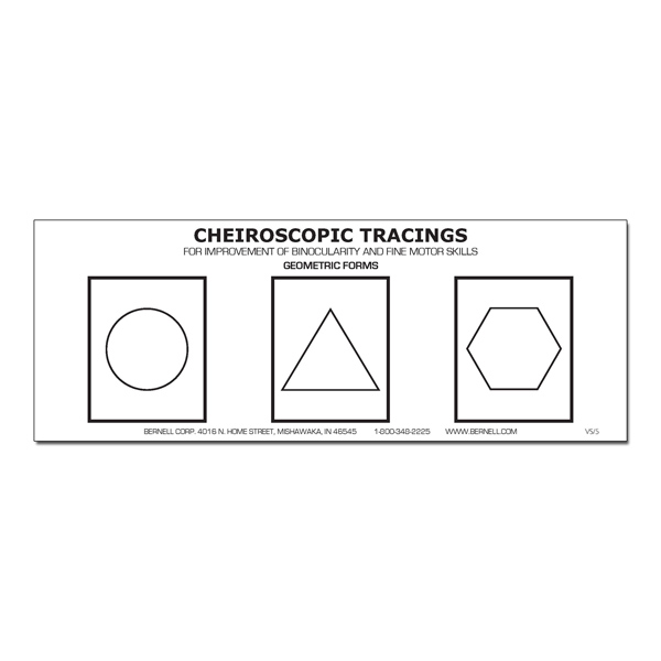 (E) Cheiroscopic Tracing Forms (Pads of 100) Geometric
