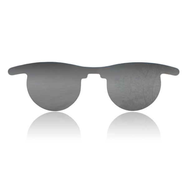 Flat Slip-In Post Mydriatic Glasses - Color: Gray (Priced Per Box of 50)