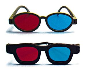 Glasses: R/G/B or Pol.