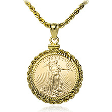 1/4 oz American Gold Eagle Coin Bezels