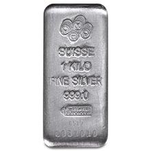 1 Kilo (32.15 oz) Silver Bars