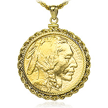 1 Oz American Gold Buffalo Coin Bezels Buy Gold And