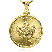 1 oz Gold Canadian Maple Leaf Coin Bezels