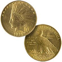 $10.00 Eagles (Indian 1907 - 1933)