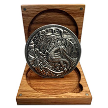 10 oz Silver Storytelling Rounds in Wood Box