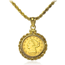 $2.50 Gold Liberty or Indian Coin Bezels