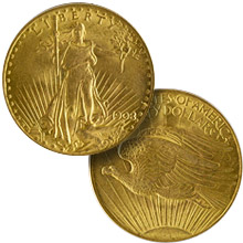 $20.00 Double Eagles (Saint Gaudens 1907-1933)