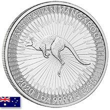 Australian Silver Kangaroo Coins
