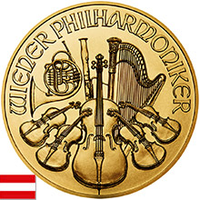 Austrian Gold Philharmonics Coins