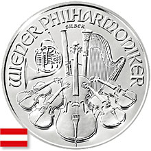 Austrian Silver Vienna Philharmonic Coins