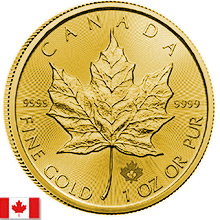 Canadian Gold Maple Leafs & Other Canadian Gold Coins