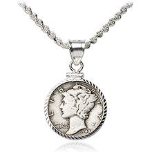 U.S. Dime Coin Bezels
