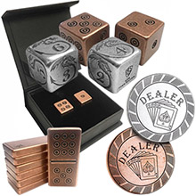 Silver & Copper Game Pieces