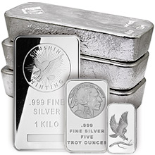 Silver Bars All Sizes 1 Oz To 100 Oz Bullion Bars