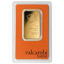 Valcambi 24kt Gold Bullion Bars